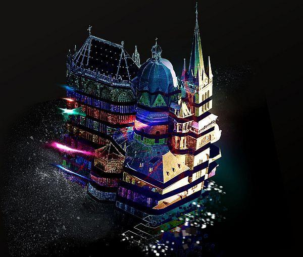 Der Aachener Dom leuchtet