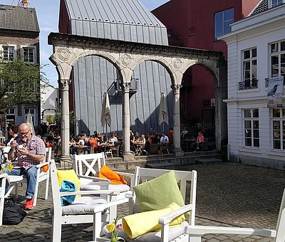 Hof in der Aachener Innenstadt