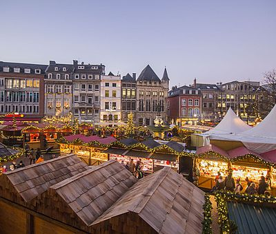 Aachener Weihnachtsmarkt Marktplatz