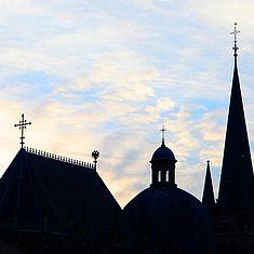 Silhouette des Aachener Doms