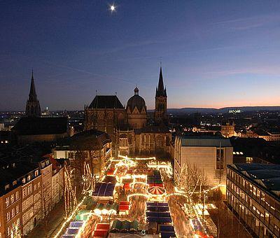 Aachener Weihnachtsmarkt auf dem Katschof