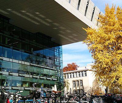 RWTH Aachen SuperC mit Fahrrädern