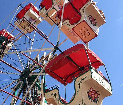 Riesenrad auf dem Historischen Jahrmarkt in Kornelimünster