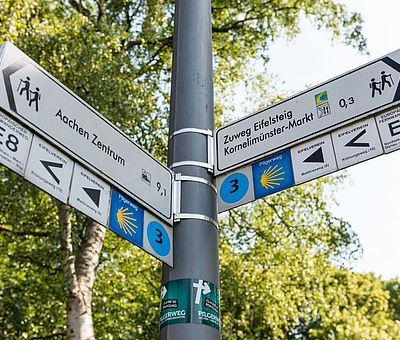 Aachen-Kornelimünster Wegweiser